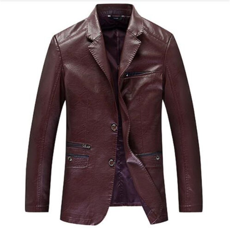 Men Genuine Leather Coats New Arrival Spring 100 Sheep Skin Youth Leather suit Collar Coats Fashion