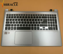 Repair You Life SP spain Laptop Keyboard For Acer Aspire Acer V5-551G V5-551 with sliver C shell Cover backlit(China)
