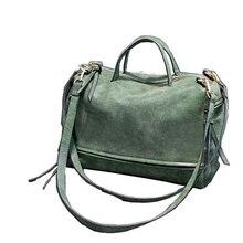 Bolso de hombro tipo bandolera para mujer de cuero de marca famosa de diseñador de lujo 2019, bolsos de gamuza Estilo Vintage para mujer