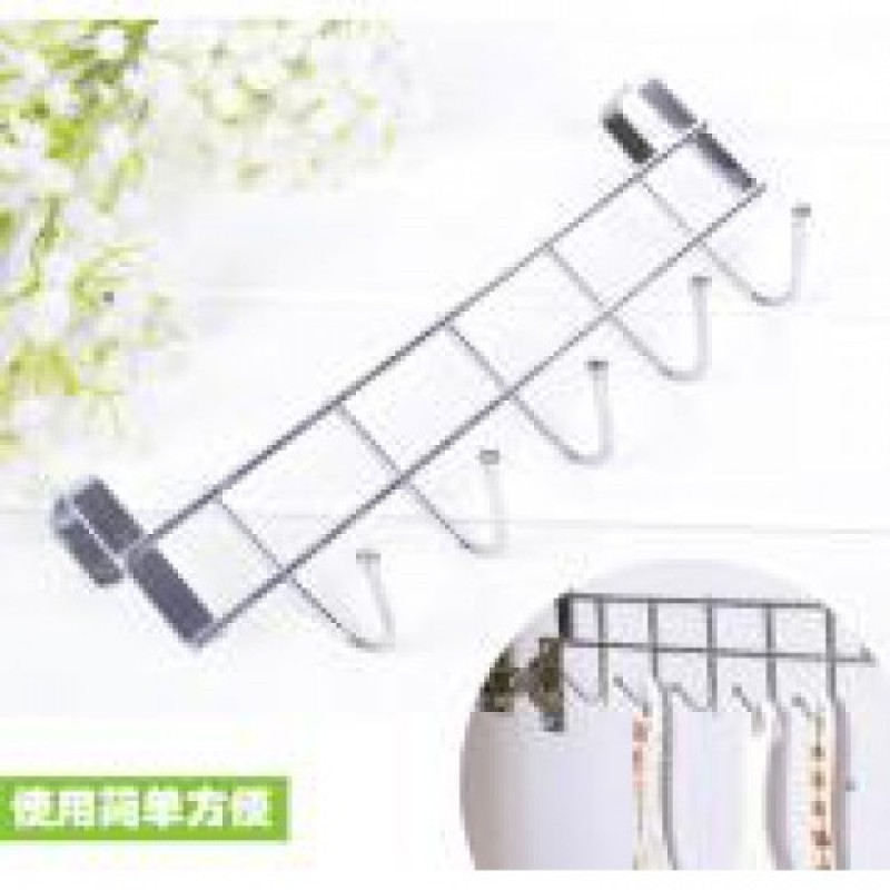 1Pcs Door Hook 5 Hooks Bold Stainless Steel Towel Coat Rack Home Organizer Holder Decoration Accessories