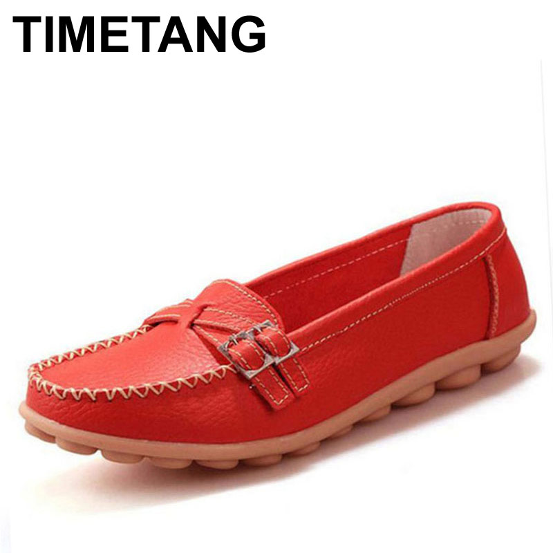 TIMETANG Moccasins Loafers Soft Slip on Women Flats Female Shoes Mother Casual Shoes Fashion Woman Genuine Leather Ladies Shoes цена и фото