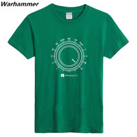 GEEK Programmer S WINDOWS 10 Youth S Funny Tees GEEK Style Printing T Shirts Short Sleeve