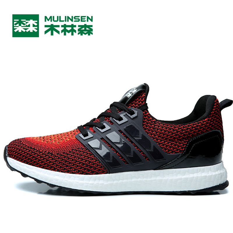 MULINSEN Super Light Running Shoes For Men Breathable Lace-Up Sport Shoes Man Brand Outdoor Travel out Leisure Men's Sneakers kelme 2016 new children sport running shoes football boots synthetic leather broken nail kids skid wearable shoes breathable 49