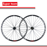 Superteam carbon MTB wheelset ud matte mountain bike wheels Thru Axle type clincher hookless