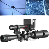 Tactical Digital Infrared Night Vision Riflescope Charger LCD And IR Flashlight Optical Sights Hunting Scopes