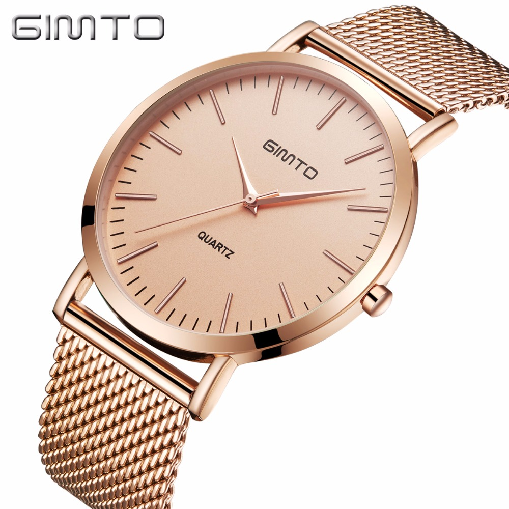 2017 GIMTO Watches Women Luxury Brand Gold Fashion Creative Quartz Ladies Watch Female Wristwatch Clock Relogio Feminino swiss fashion brand agelocer dress gold quartz watch women clock female lady leather strap wristwatch relogio feminino luxury