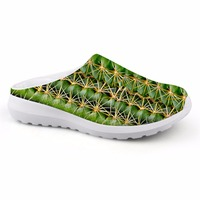 Noisy Designs Women' s Shoes House Slippers Biology 3D Denim Leaf Prints Summer Beach Slippers for Children Slip on Sandals