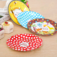 Disposable Party Plate Tray 7 Inch Paper Plate Cake Party Birthday Party Decorations Wedding Decoration Supplies