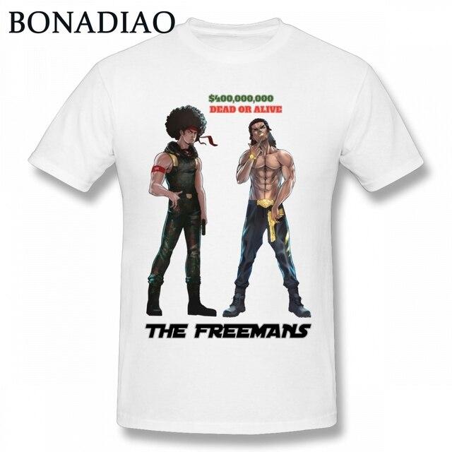667b923dc Craig Smokey Boondocks Huey And Riley Freemans T Shirt Classic American  Cartoon Graphic T Shirt Big Size