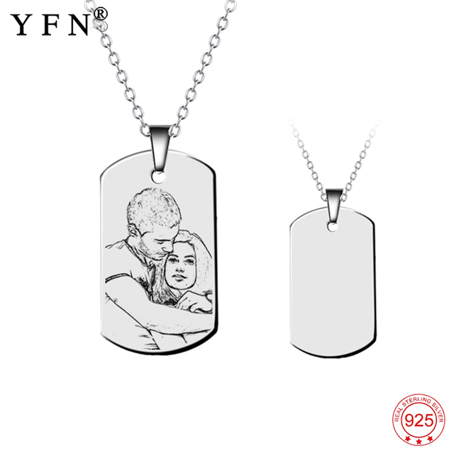 Necklace 925 sterling silver custom name photo necklace necklace 925 sterling silver custom name photo necklace personalized engraved pendants necklaces fashion jewelry unisex aloadofball Choice Image