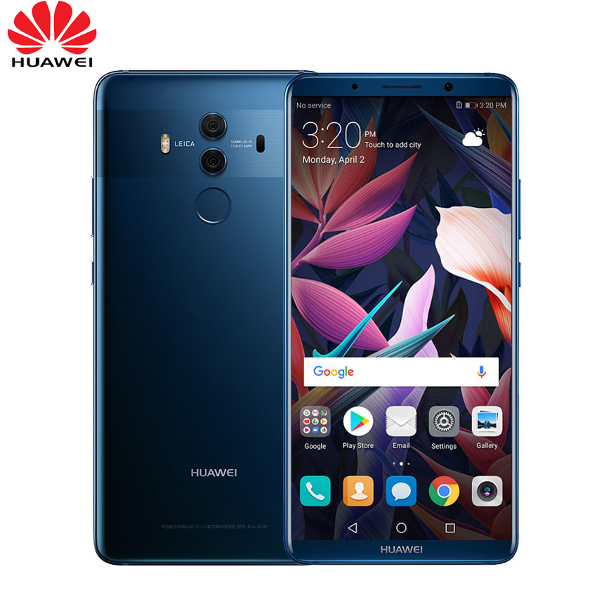"Глобальная прошивка huawei mate 10 Pro Смартфон Android 8,0 двойной сзади 20MP + 12MP 4000 мАч 6,0 ""1080*2160 Kirin970 сканер отпечатков пальцев NFC"