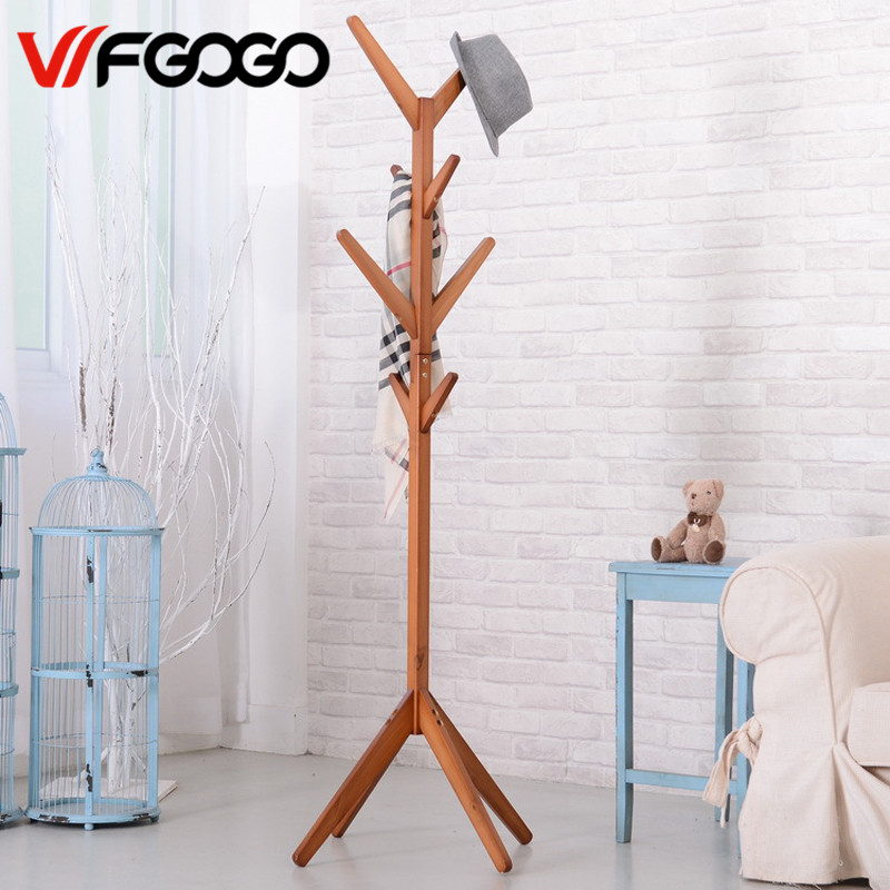 WFGOGO Home Furnishing Solid wooden Living Coat Racks Simple idea Stands Scarves Hats Bags Clothes Shelf wfgogo home furnishing solid wooden living coat rack stands scarves hats bags clothes shelf