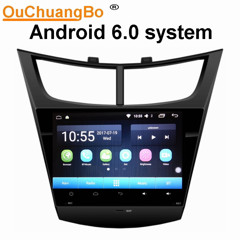Ouchuangbo car radio audio player for Chevrolet Sail 2015 with gps bluetooth 1080P video 4G wifi 2G Ram 32G ROM android 6.0