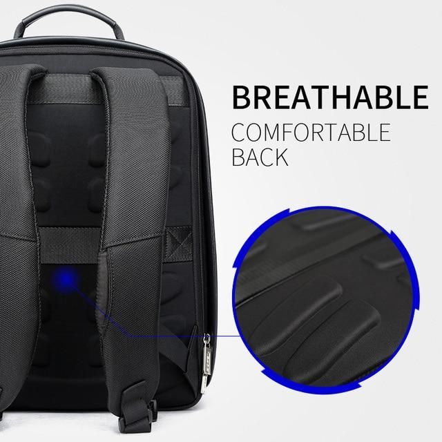 BOPAI Brand Enlarge Backpack USB External Charge 15.6 Inch Laptop Backpack Shoulders Men Anti-theft Waterproof Travel Backpack 3