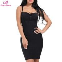 Lover Beauty Firm Control Full Slip Bodysuit Padded Women Body Shaper Plus Size Shapewear Adjustable Skirt