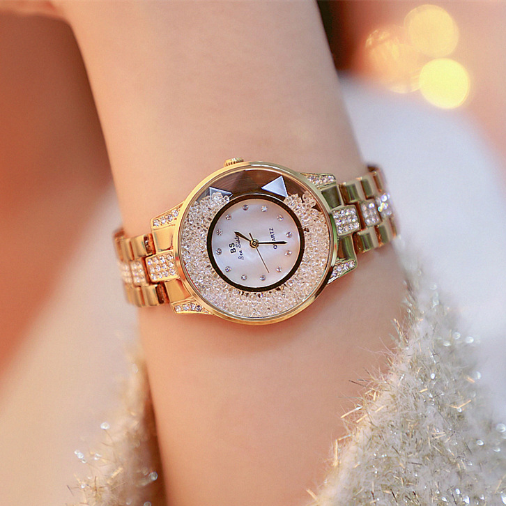 Fashion Luxury Lady Watch Woman Rhinestone Wristwatches Crystal Watches Hours Gift Relogios clocks Drop Shipping
