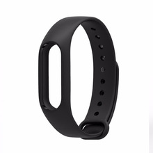 WristbanM2 Silicone Straps Replacement For Xiaomi Mi Band 2 Wrist Strap xiomi miband2 Smart Wristband band2 Bracelet Accessories 2 clors new replacement colorful wristband band strap bracelet wrist straps material silicone straps b1568 180823 yx