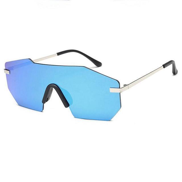 28d96725672 Sunglasses Men Women Brand Designer Siamese Oversized Sun Glasses Vintage  Style Motorcyclist Sunglasses UV 400 Eye