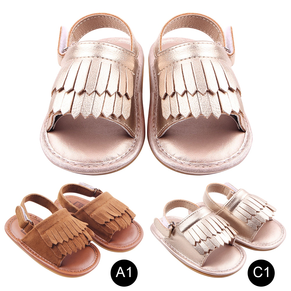 f1788b5e39 Newborn Baby Girl Sandals Summer Baby Shoes Casual Fashion Baby Girl Shoes  Sandals For Girls PU Fringed Baby Sandals-in Sandals from Mother & Kids on  ...