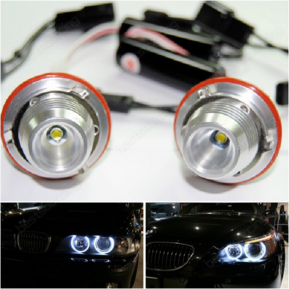 Free Shipping 5 pairs/lot 3W LED Marker Angel Eye White Light Lamp for E39 E53 E60/E61 E63/E64 E65/E66 E87