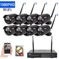 HD 2MP CCTV System 8ch 1080P Wireless NVR Kit Outdoor IR Night Vision IP Wifi Camera