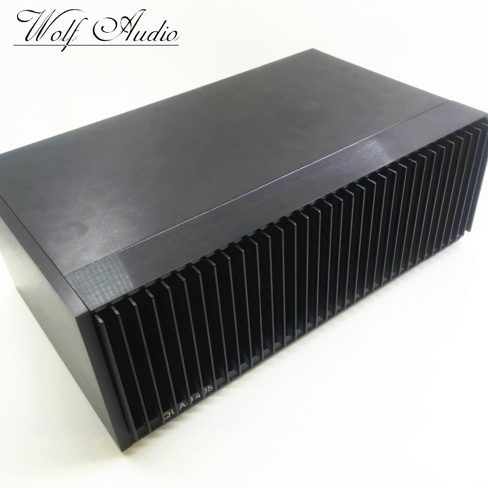 CLONE QUAD405 Black Chassis Power Amp Box DIY Amplifier Case Enclosure 3206 amplifier aluminum rounded chassis preamplifier dac amp case decoder tube amp enclosure box 320 76 250mm