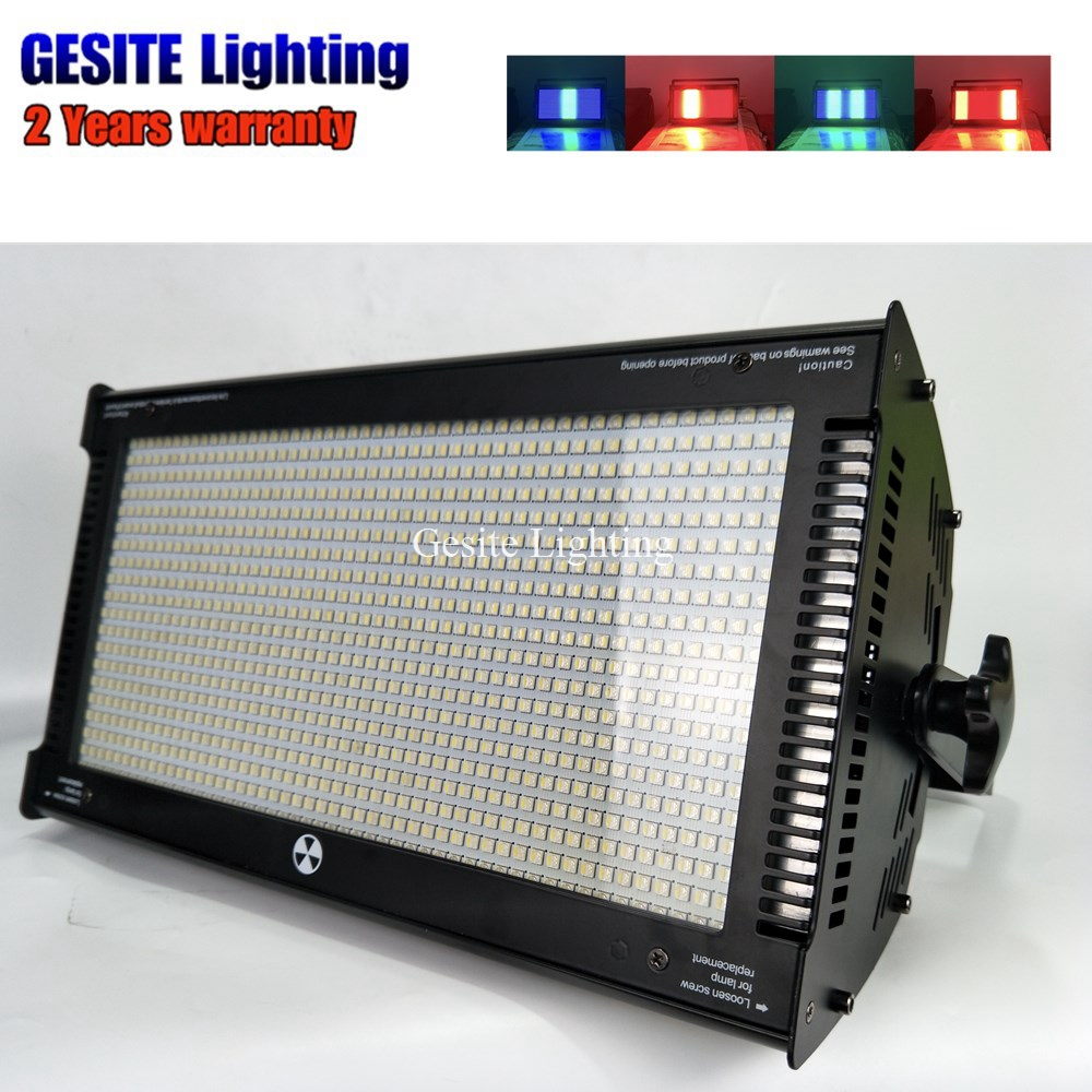 2pcs New Flash RGB Color Mixing 1000W LED strobe stage light For Club Event