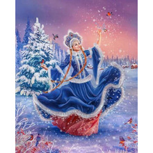 diamond painting woman who dances in the snow,diamand painting,diamondpainting