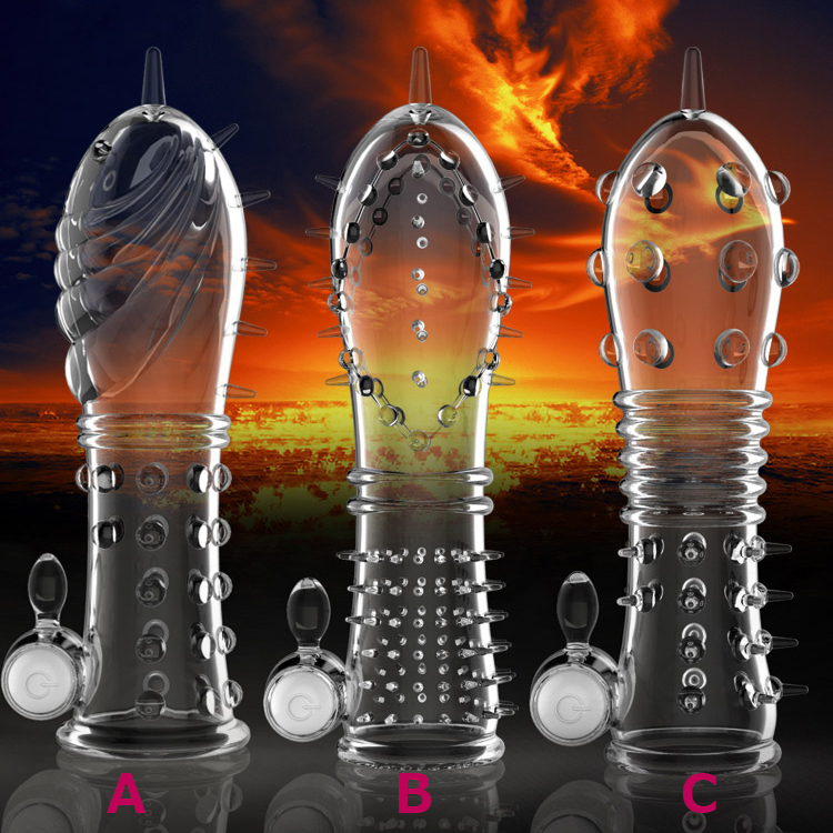 Reusable Condom Stimulation Penis Sleeve Penis Extension -2669