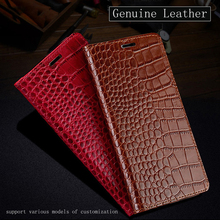 Купить с кэшбэком Flip Phone Case For Xiaomi Mi 5 6 8 A1 A2 lite Max 2 3 Mix 2s case Crocodile Texture cases For Redmi Note 4 4X 4A 5 Plus 6A Case
