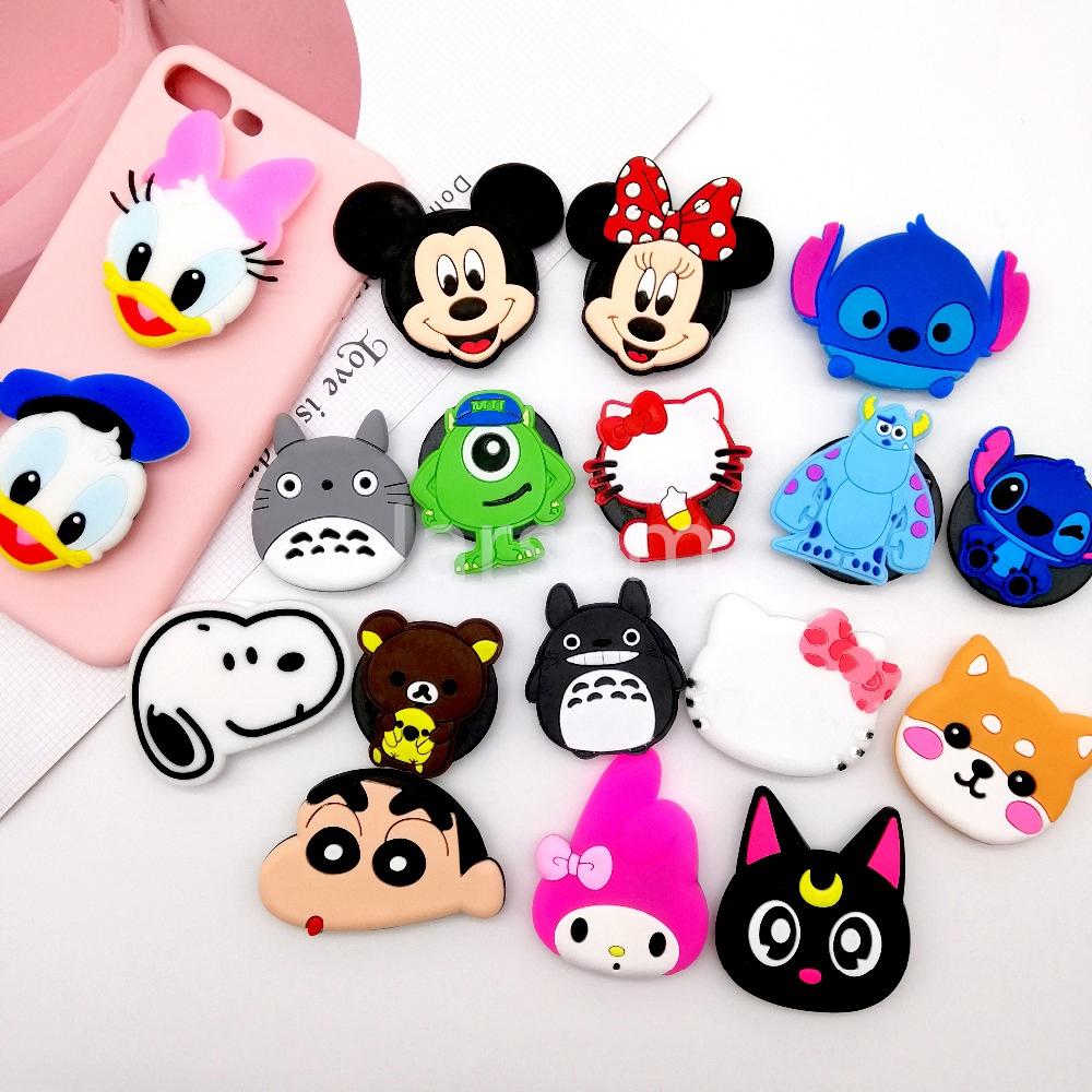 wangcangli socket Universal mobile phone stretch bracket Cartoon Finger phone Holder