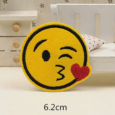 14pcs lot Expression Fabric parches Embroidery Iron on Patches For Clothing DIY Decoration Clothes Stickers Applique Badge in Patches from Home Garden