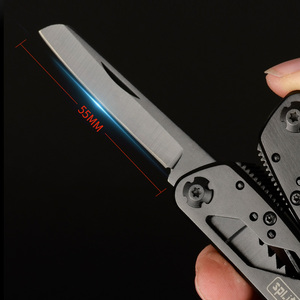 Image 4 - G202B 멀티 도구 접는 플라이어 낚시 캠핑 야외 생존 EDC 기어 Multitool 포켓 나이프 가위 스크루 드라이버 비트
