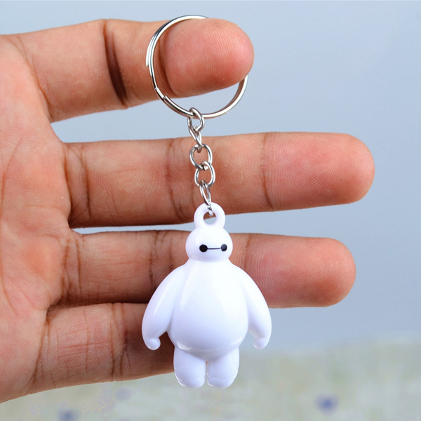 2pcs Big Hero 6 Baymax Key Chain 4cm Cute Mini Action Figure Toys Keychain Pendant Birthday Gift For Friends