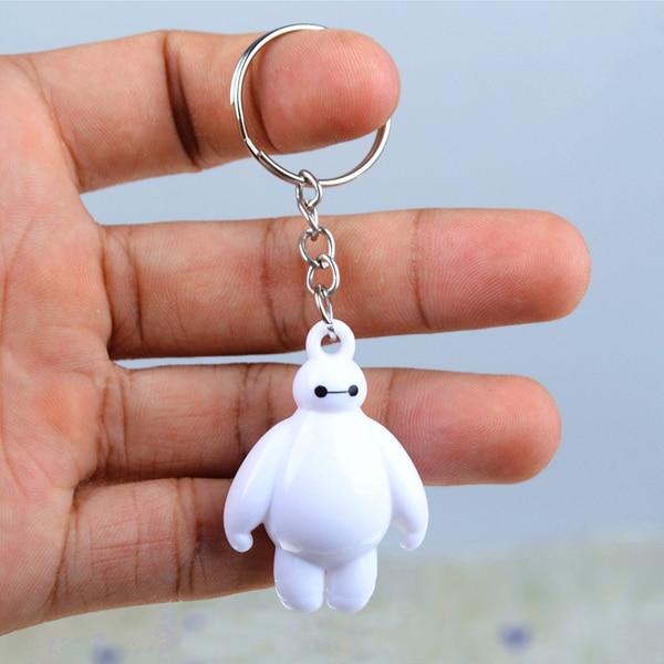 2pcs Big Hero 6 Baymax Key Chain 4cm Cute Mini Action Figure Toys Keychain Pendant Birthday Gift For Friends
