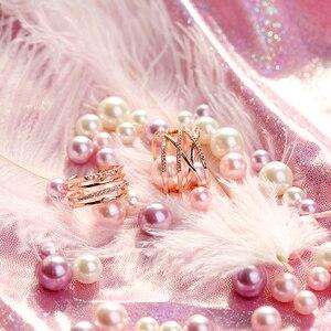 Image 2 - ヴィンテージ飾り模擬真珠グラデーションカラー人魚の目ビーズフォトの写真の背景装飾アイテムジュエリーリング