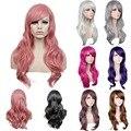 70 cm Longo Preto/vermelho/prata diário peruca de cabelo sintético, fibra resistente ao calor anime cosplay peruca de cabelo, senhoras partido peruca de cabelo peruca