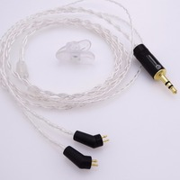 1 2 Meter Hi End 4 Cores 5N OCC Silver Plated Headphone Upgrade Cable For Etymotic