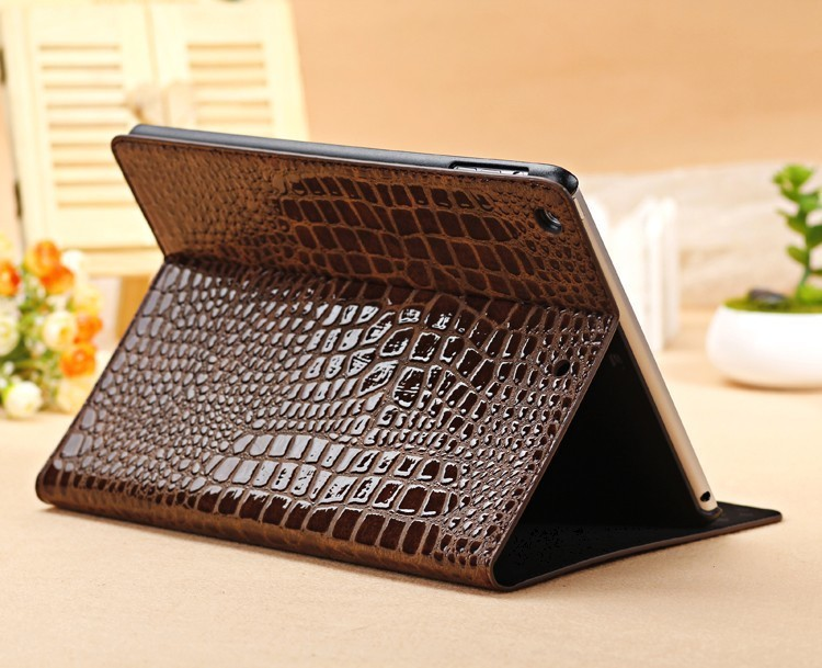 Stand Cover Case Apple iPad mini , 7.9 inch,Fashion Slim Crocodile Leather Retina  -  Desheng (HK store Trading Co., Ltd.)