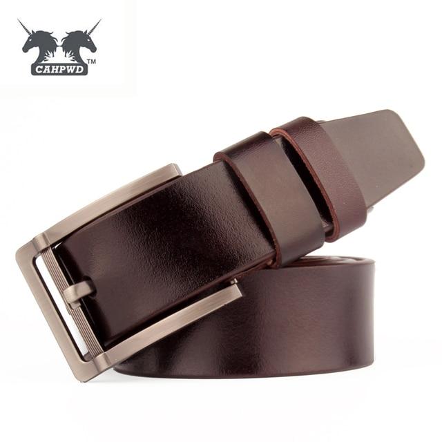 Classique Véritable Ceintures En Cuir Pour Hommes Gris Pin Boucles En Métal  de Haute Qualité Bracelet 64813946271
