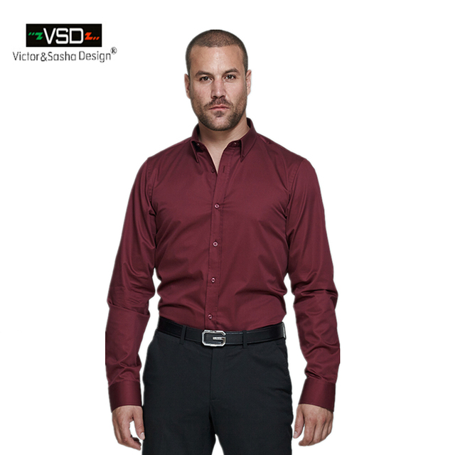 VSD Italian Brand Office Causal Classic Shirts Style Men's long ...