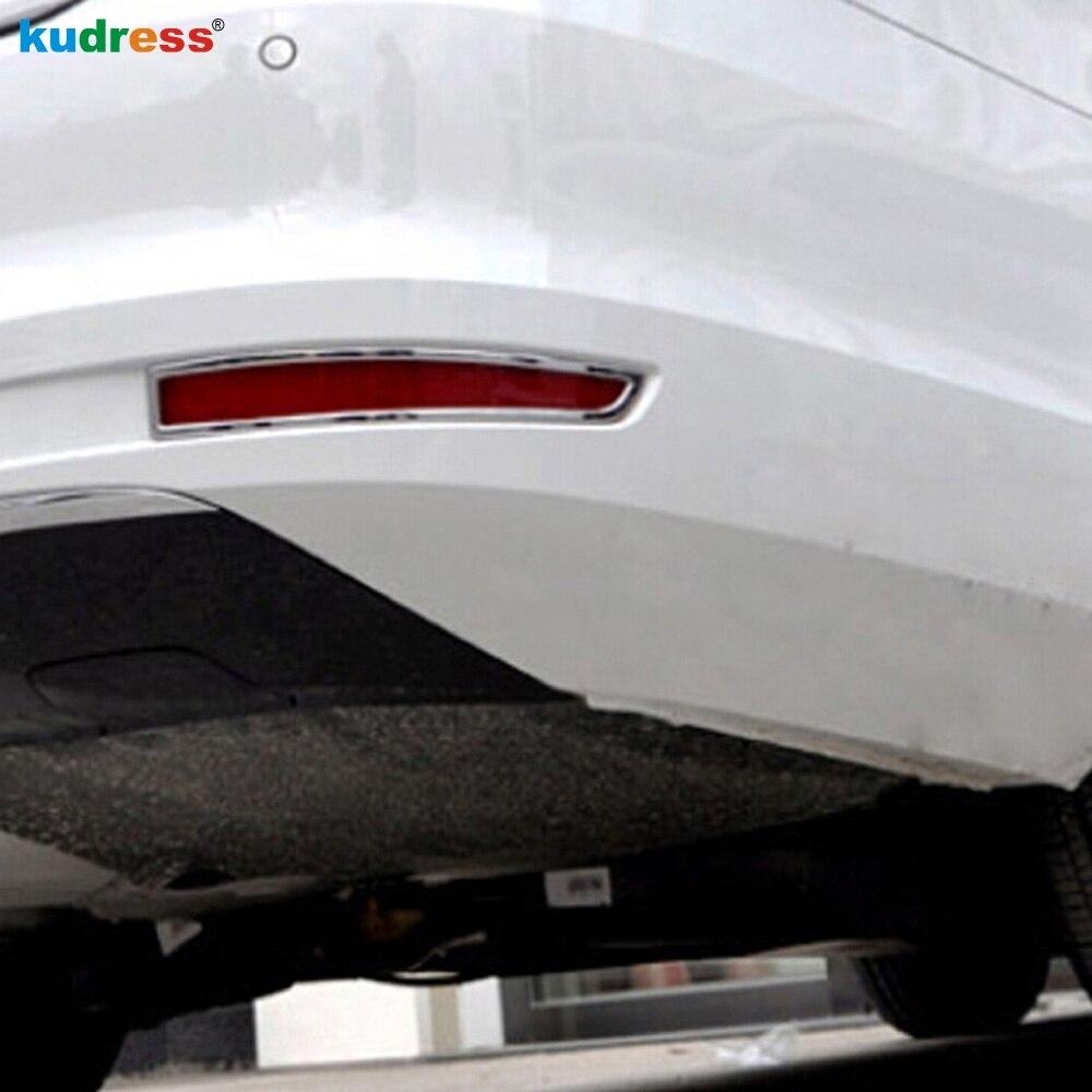 For Volkswagen Jetta 6 Mk 6 2015 2016 ABS Chrome Tail Rear Foglight Lamp Cover Trim Fog Light Protector Lamp Shade Frame 2PCS