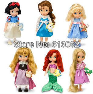 Authentic 40cm Snow white Cinderella Belle Rapunzel Ariel doll Birthday gift high qualty cartoon princess free delivery - S&L 613062 store