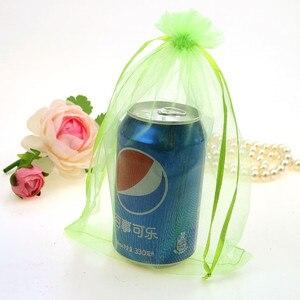Image 4 - En gros Organza sac 17x23 cm bijoux emballage affichage pochettes mariage noël cadeau sacs bijoux sacs et pochettes 100 pcs/lot
