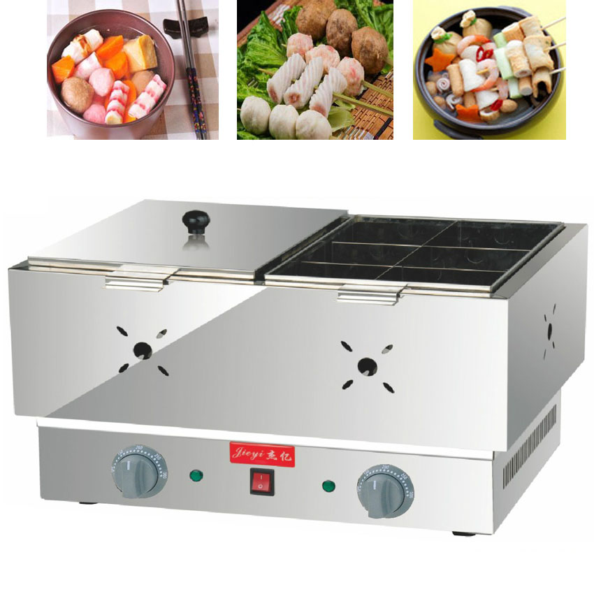 1pc FY-21 Electric multi-functional commercial double cylinder kanto cooking machine Snack equipment cooking pot commercial 2 cylinder 18 frames electric kanto cooking machine snack equipment cooking pot oden machine110v 220v