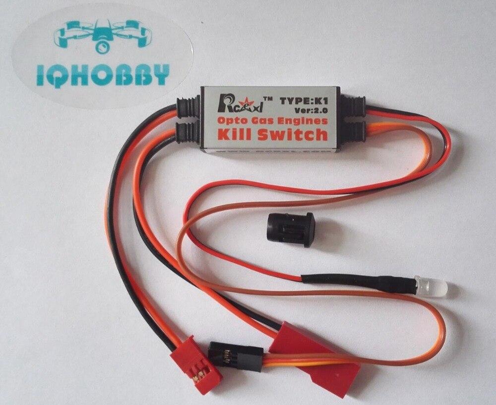 Freies Verschiffen Rcexl Opto Gasmotoren Remote Kill Switch K1 V2.0 für RC Modell Benzin Flugzeug