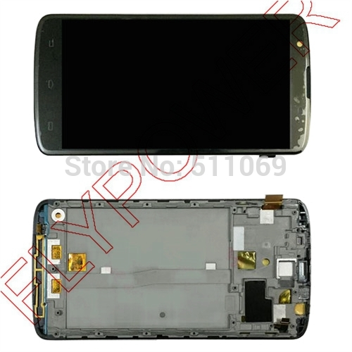 For Philips i928 LCD Screen Display with Touch Screen Digitizer Assembly+frame by free shipping; Black; 100% warranty