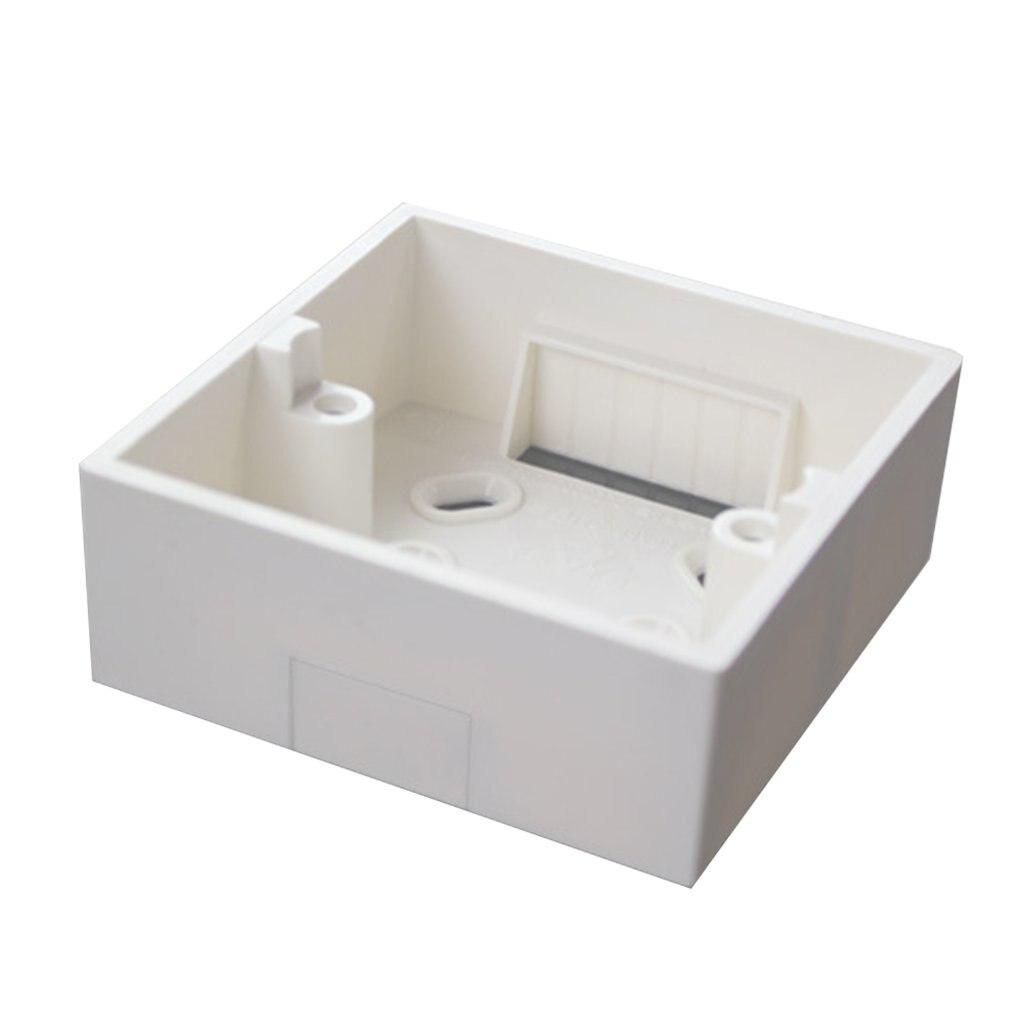 Surface Mounted Switch Box PVC Flame Retardant 86 Single And Double Bottom Box Socket Panel Base Junction Box Wholesale