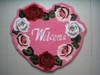 2014 nouveau tapis de chambre de mariage Rose en forme de coeur Alfombras. Marié Tapis. Saint valentin cadeau mode escalier salle de bain