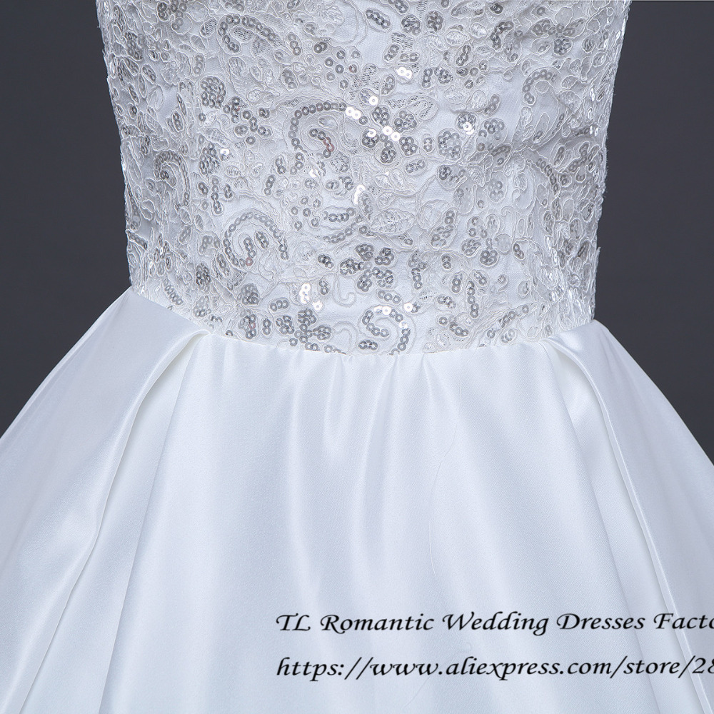 Free Shipping Plus size White Simple Ruffles Wedding Dresses Cheap ...